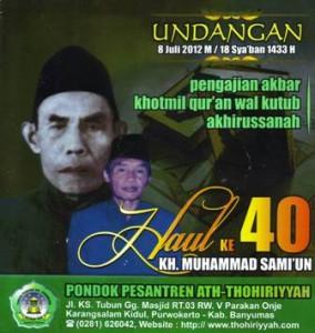 Manual Acara Khotmil Qur'an Wal Kutub, Akhirussanah Dan Haul KH