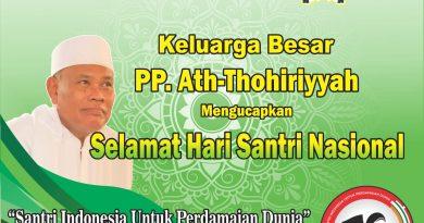 PP. Ath-Thohiriyyah Mengucapkan Selamat Hari Santri 2019
